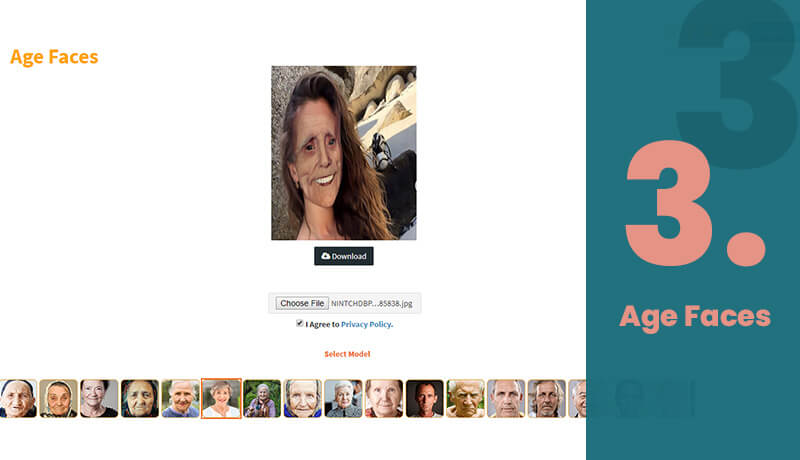 Age Faces Age Progression Tool Online
