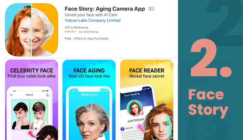 Face Story Free Age Progression App for iOS