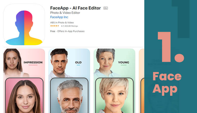 FaceApp Free Age Progression App For iOS
