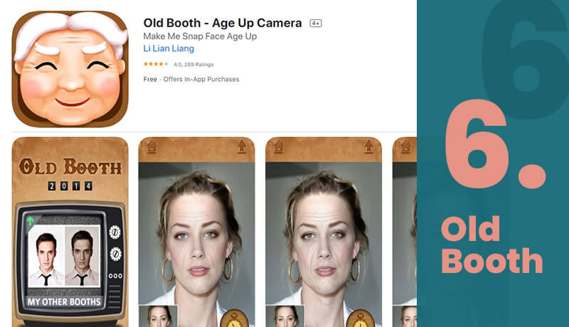 Old Booth Free Age Progression App For iOS